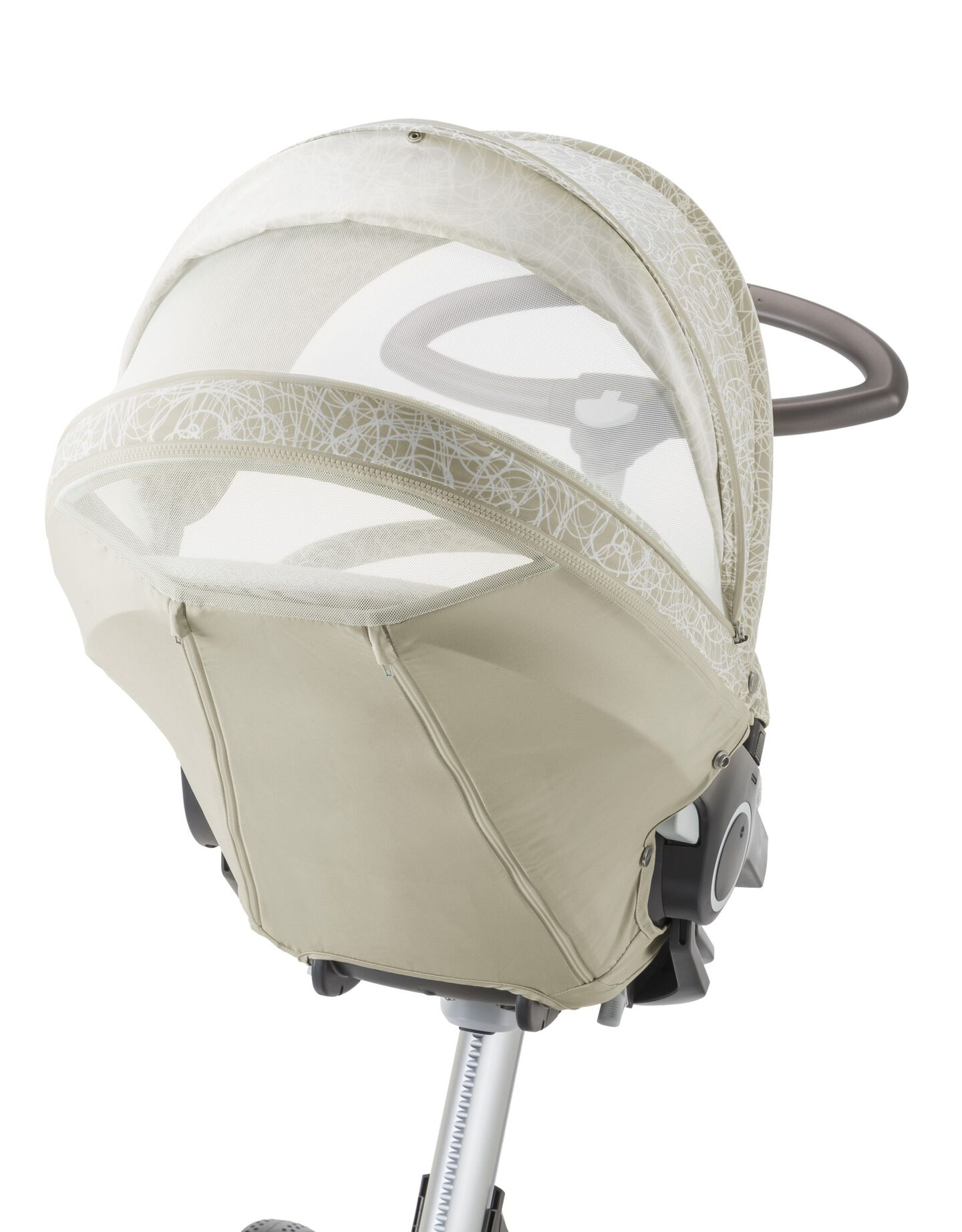 Stokke® Xplory® with Stokke® Stroller Summer Kit Scribble Sandy Beige.
