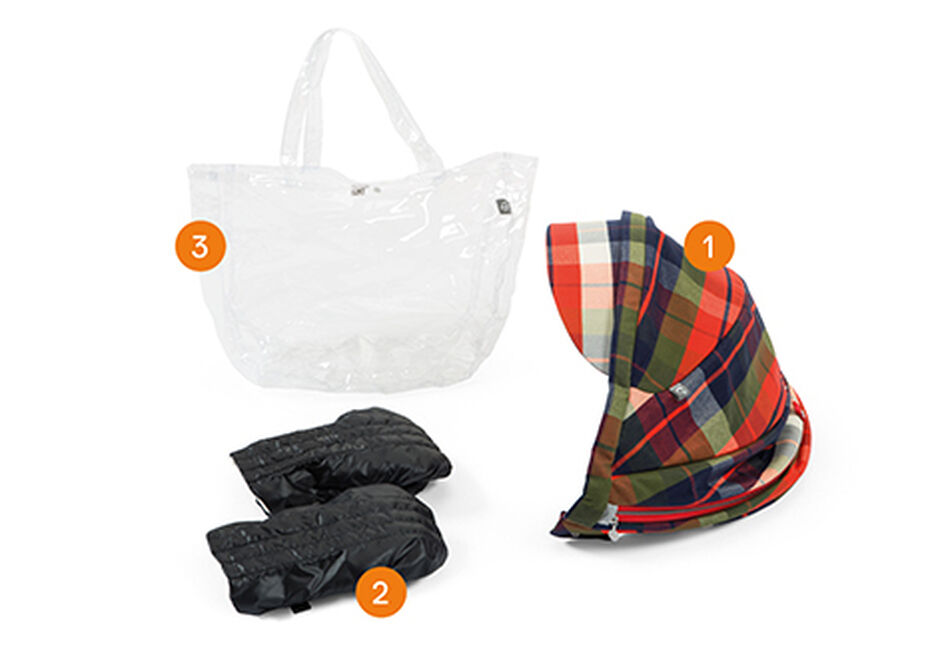 Stokke® Scoot™ Winter Kit Flannel. Item included.