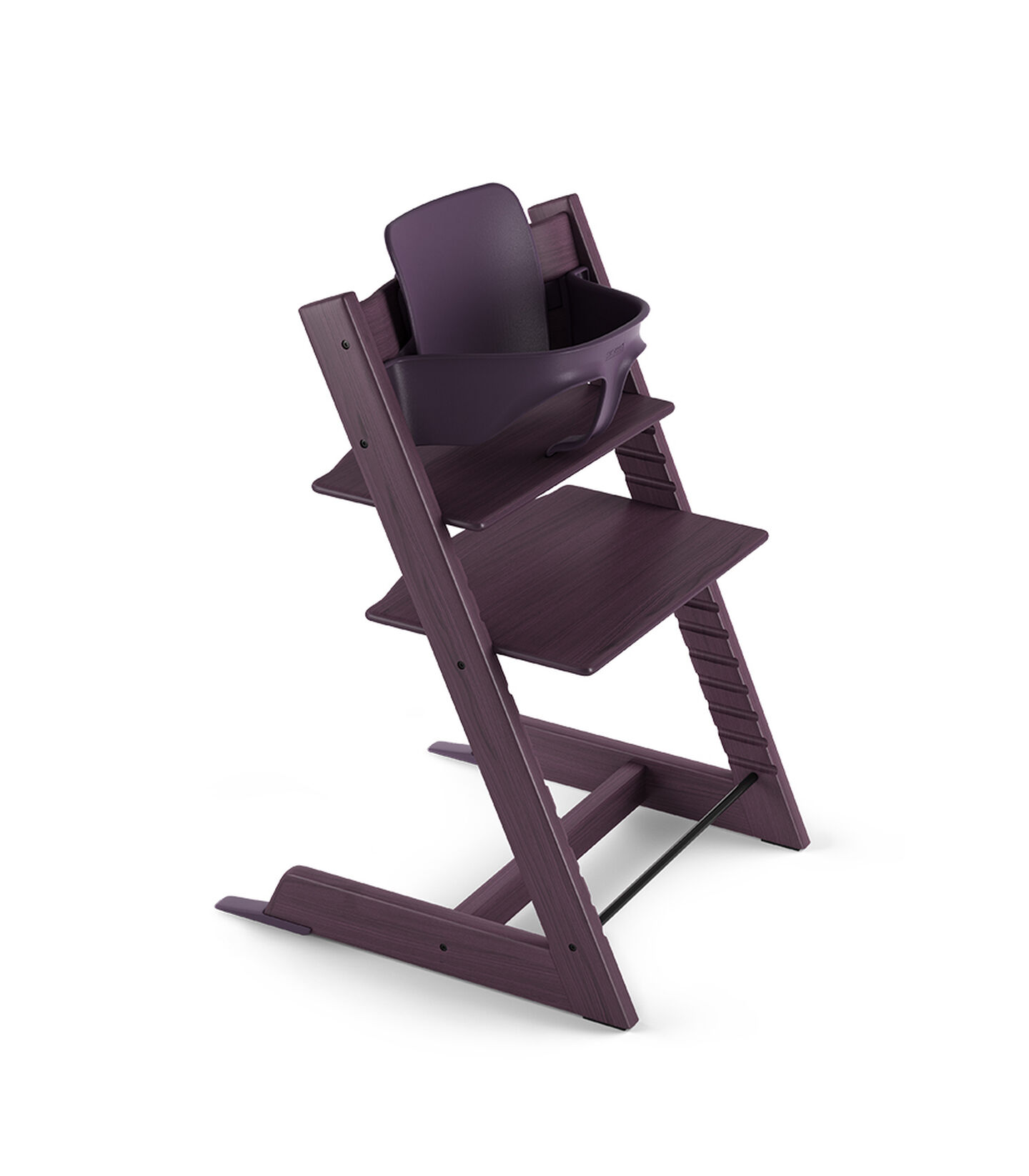 Tripp Trapp® Chair Plum Purple with Baby Set.