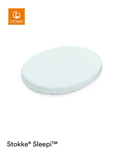 Stokke® Sleepi™ Mini Spannbettlaken Powder Blue, Powder Blue, mainview view 6