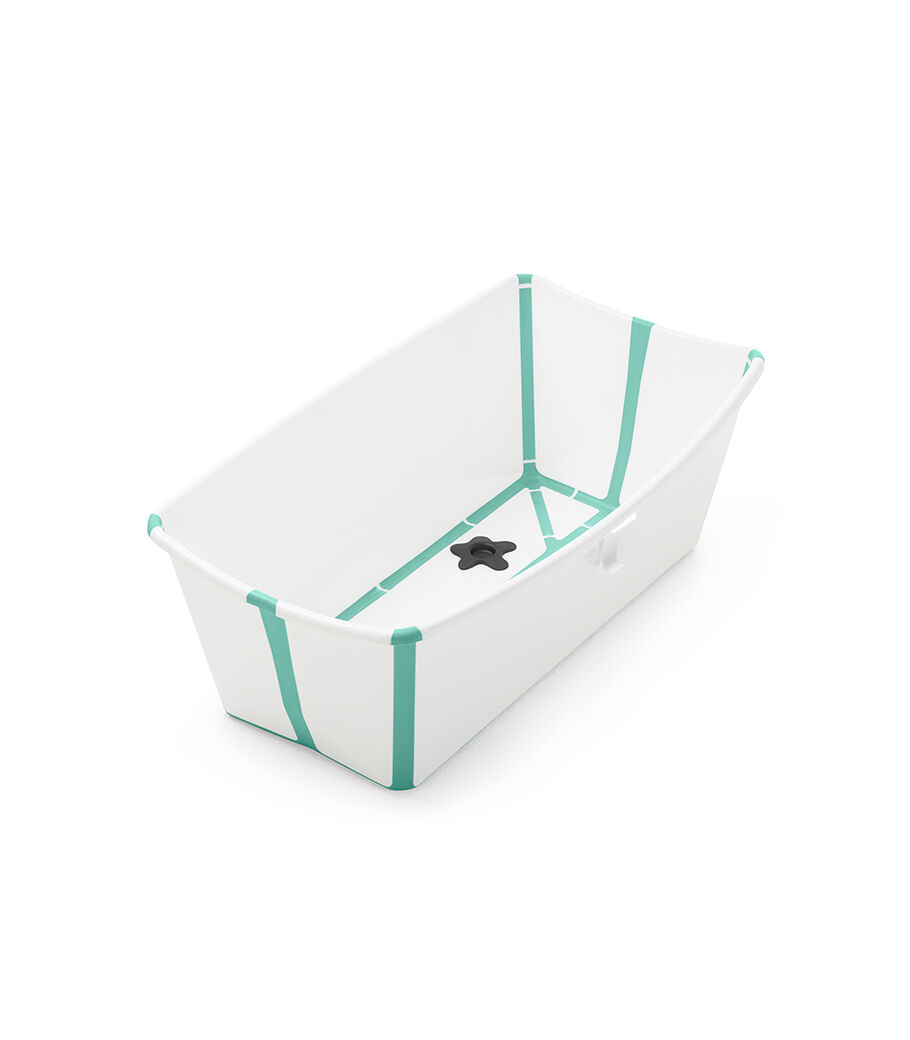 Stokke® Flexi Bath® bath tub, White Aqua. Open.