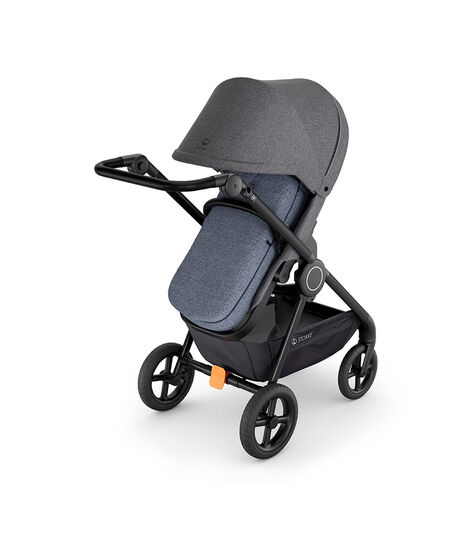 Stokke® Stroller Softbag Blue Melange, Blue Melange, mainview view 3