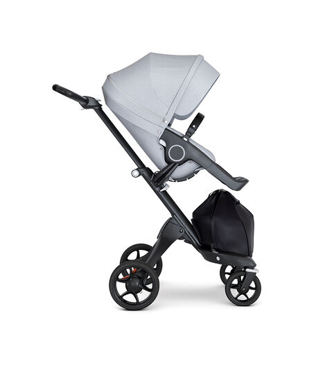 Stokke® Xplory® Black Chassis with Black Handle Grey Melange, Grey Melange, mainview view 3