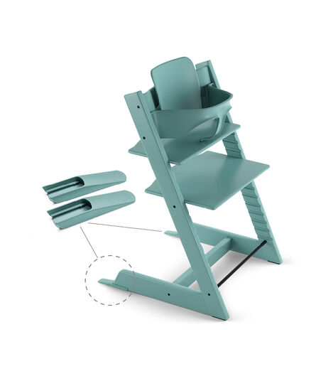 Tripp Trapp® Chair Aqua Blue, Beech, with Baby Set.