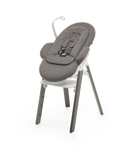 Stokke® Steps™ Chair White Seat Hazy Grey Legs, Hazy Grey, mainview view 6