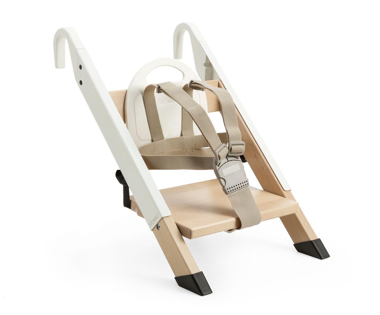 Portable child seat. White