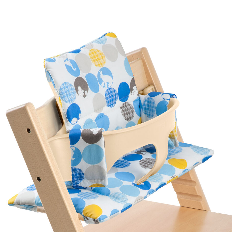 Tripp Trapp® Natural with Baby Set and Silhouette Blue cushion