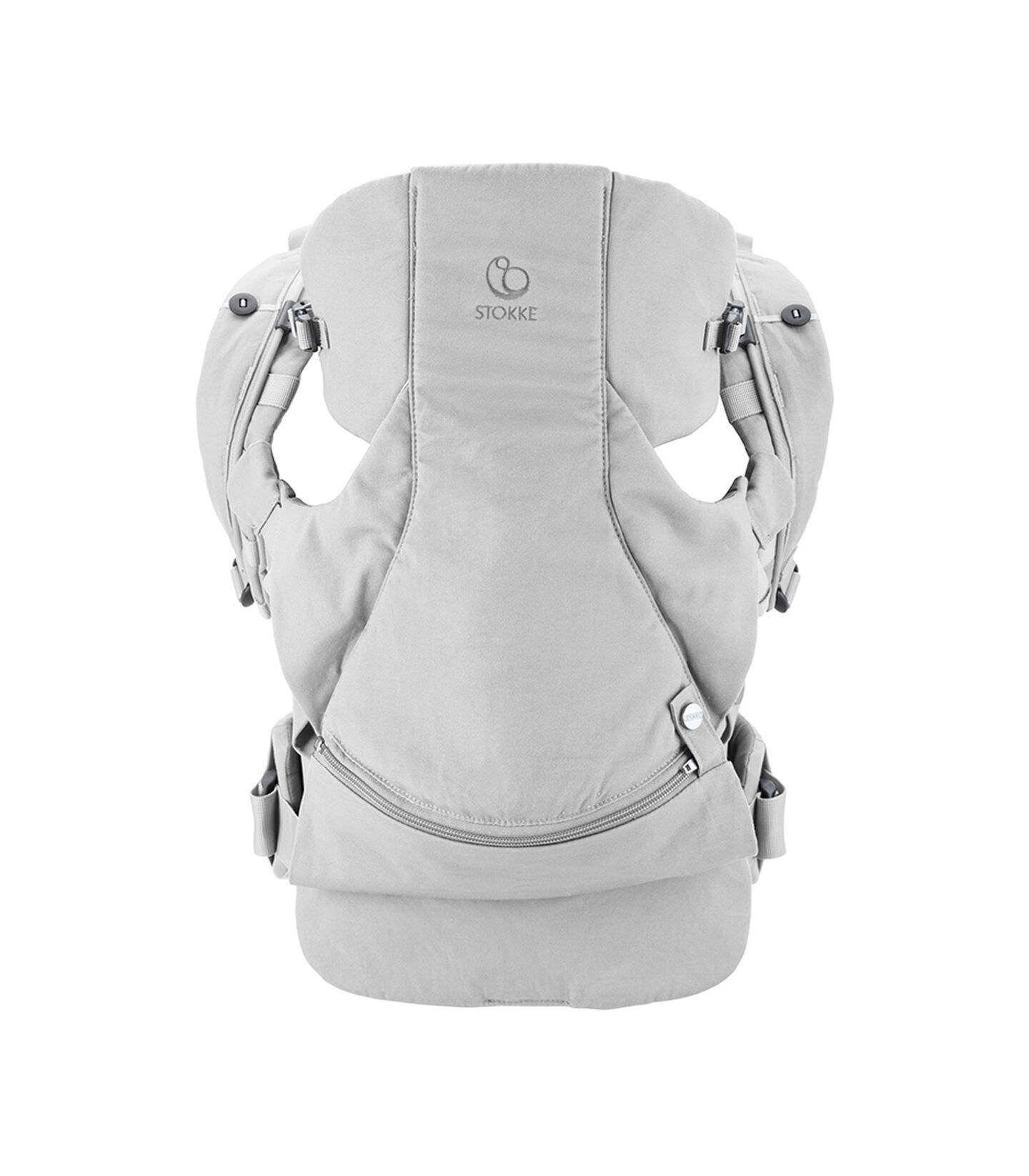 Stokke® MyCarrier™ OCS Frontal y Dorsal Gris, Gris, mainview view 2