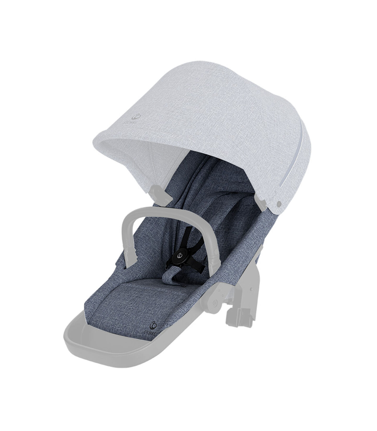 Stokke® Beat seat textile BlueMel wo Can Harness Shpg Basket, Blue Melange, mainview view 2