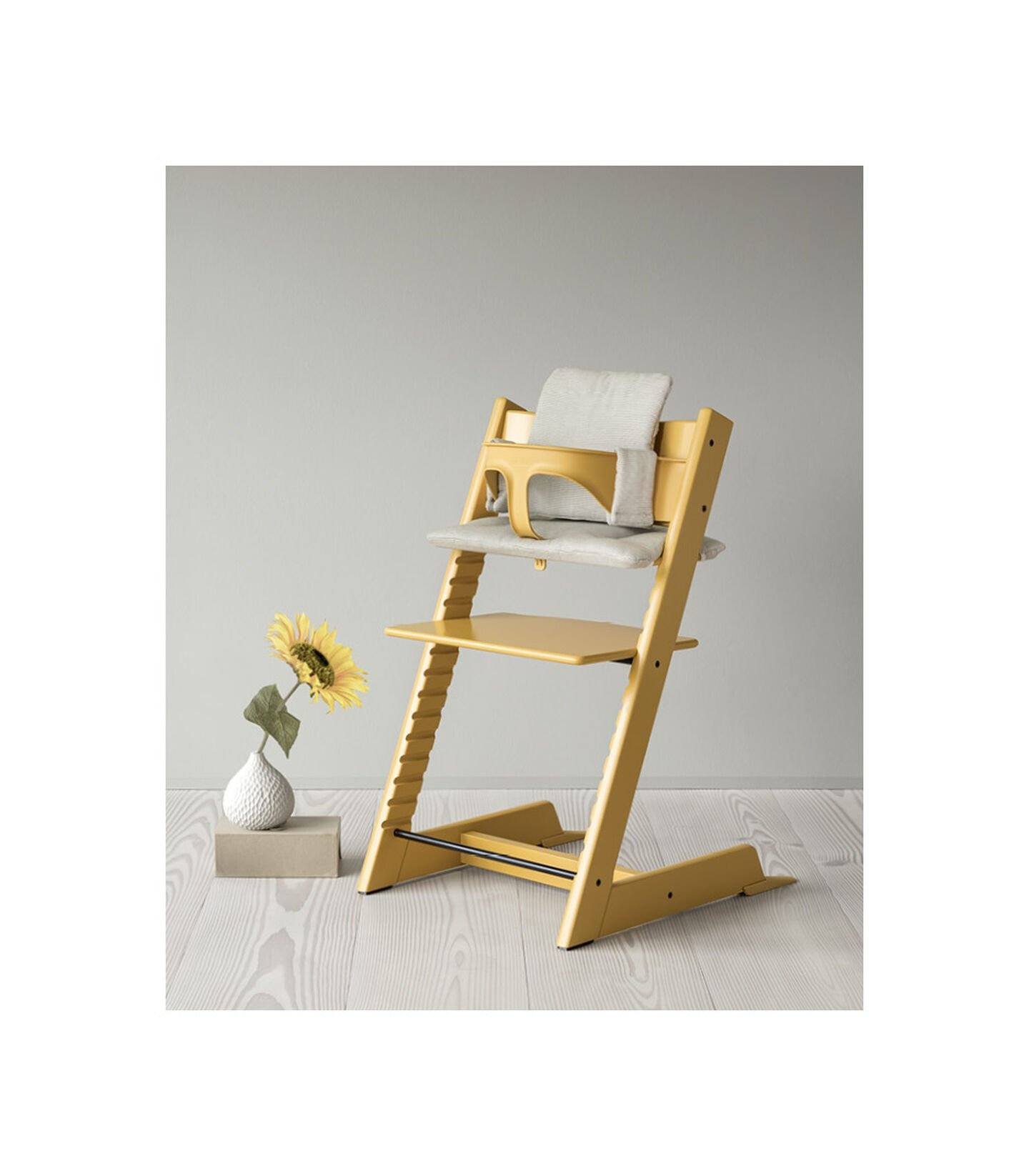 Tripp Trapp Chair Sunflower Yellow Trend Collection in setting view 2