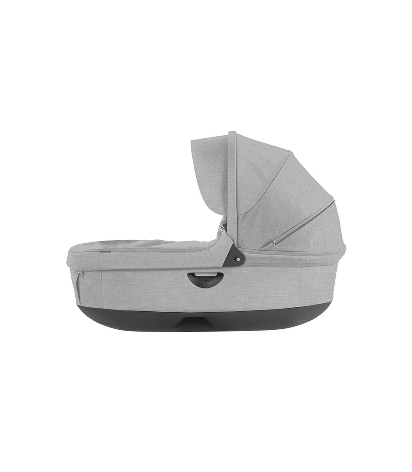 Stokke® Stroller Carry Cot. Grey Melange. (Canopy not included).
