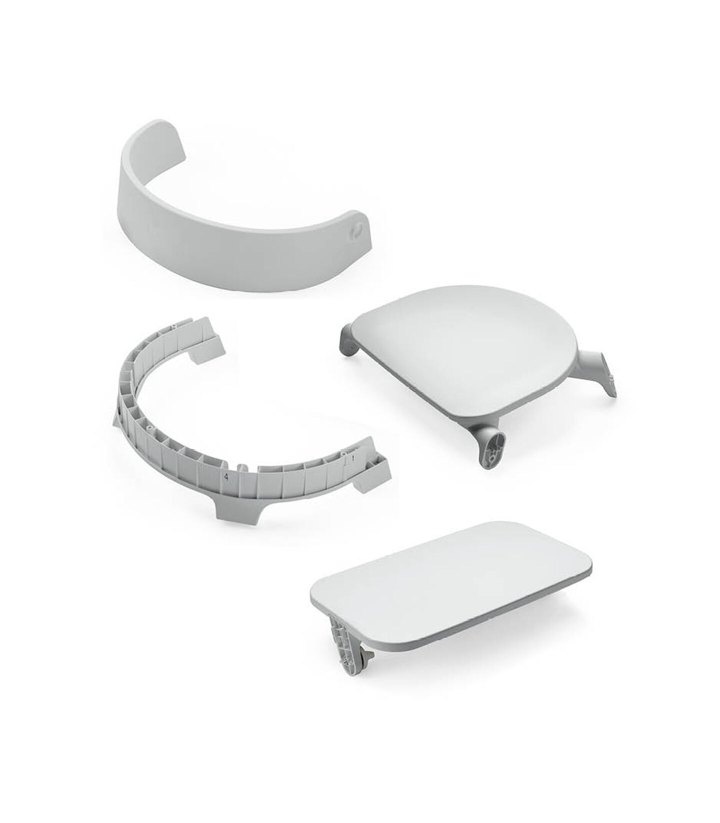 Stokke® Steps™ Chair Seat Grey, Grey, mainview view 2