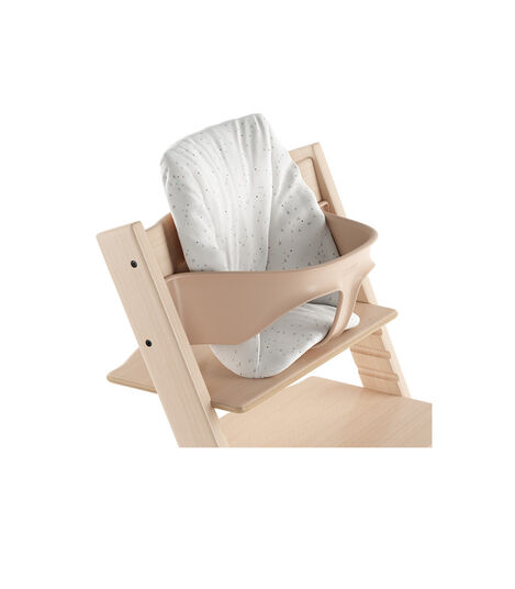Tripp Trapp® Natural with Baby Set and Baby Cushion Sweet Hearts. Close-up.