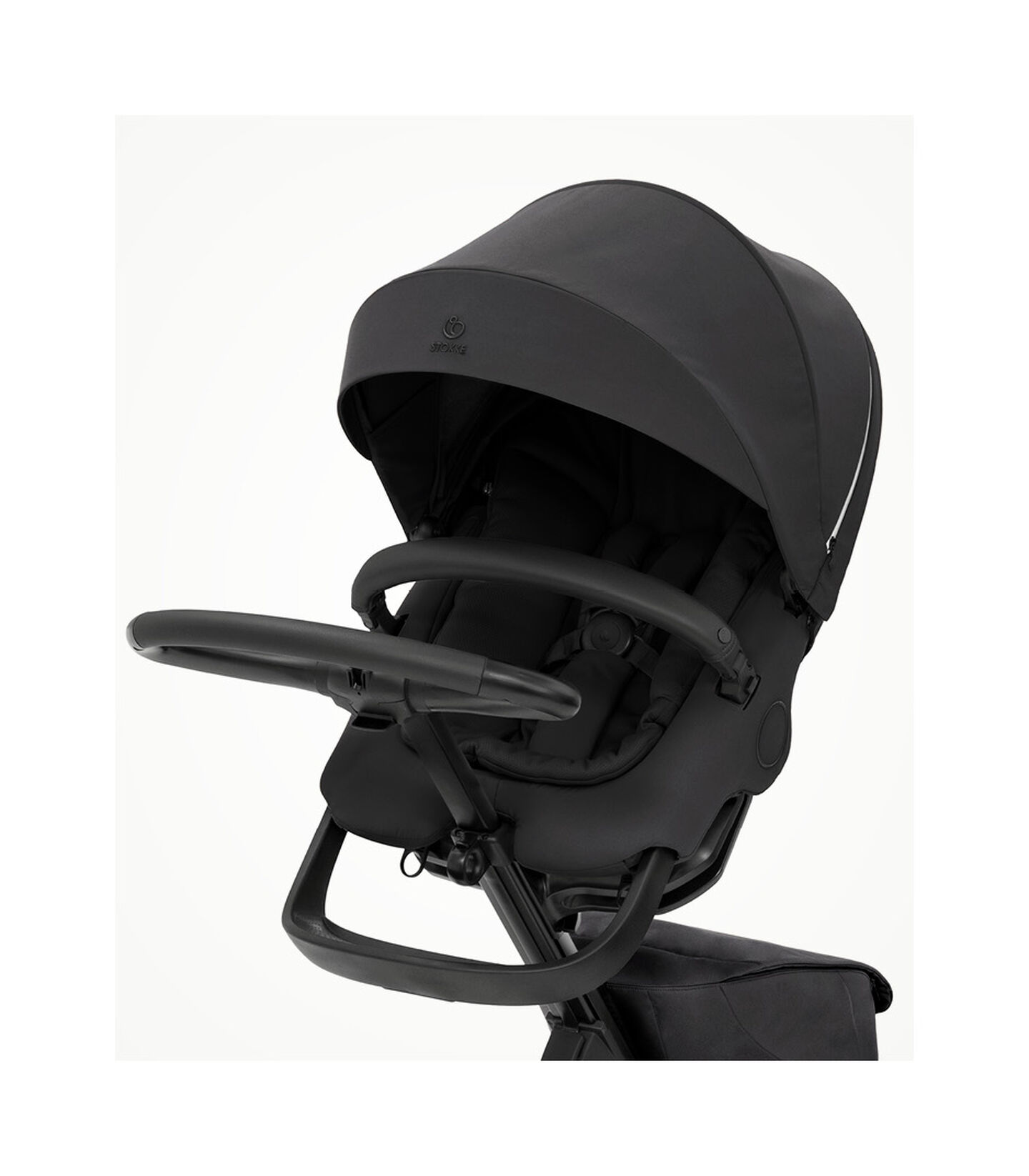 Stokke® Xplory® X Rich Black Stroller with Seat. view 2