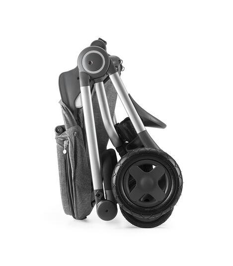 Stokke® Scoot™ Seat, Black Melange. Folded