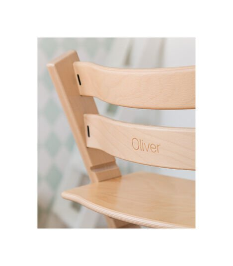 Tripp Trapp® Chair with engraving. Natural.
