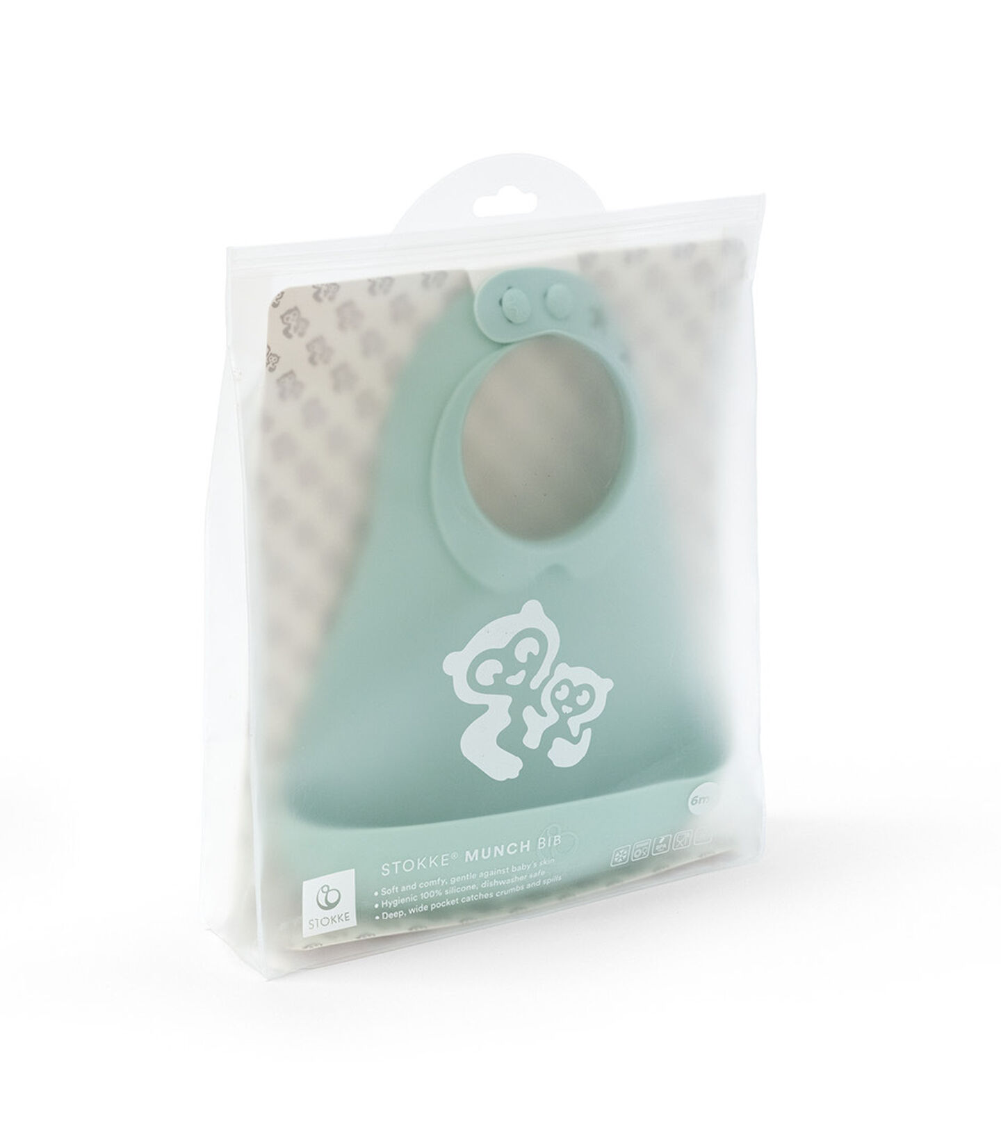 Stokke™ Munch™ Bib in End User Packaging box