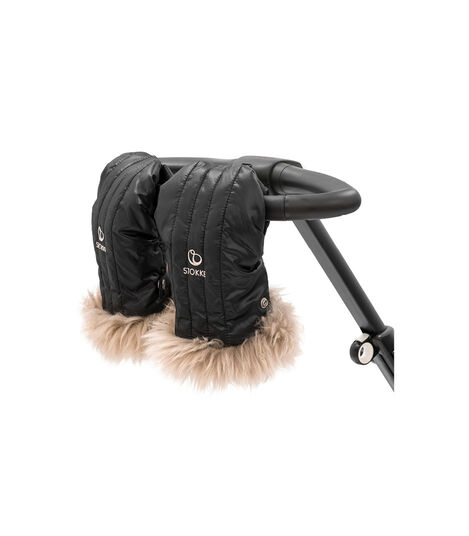 Stokke® Stroller Mittens, Onyx Black. Part of Stokke® Stroller Winter Kit. view 3