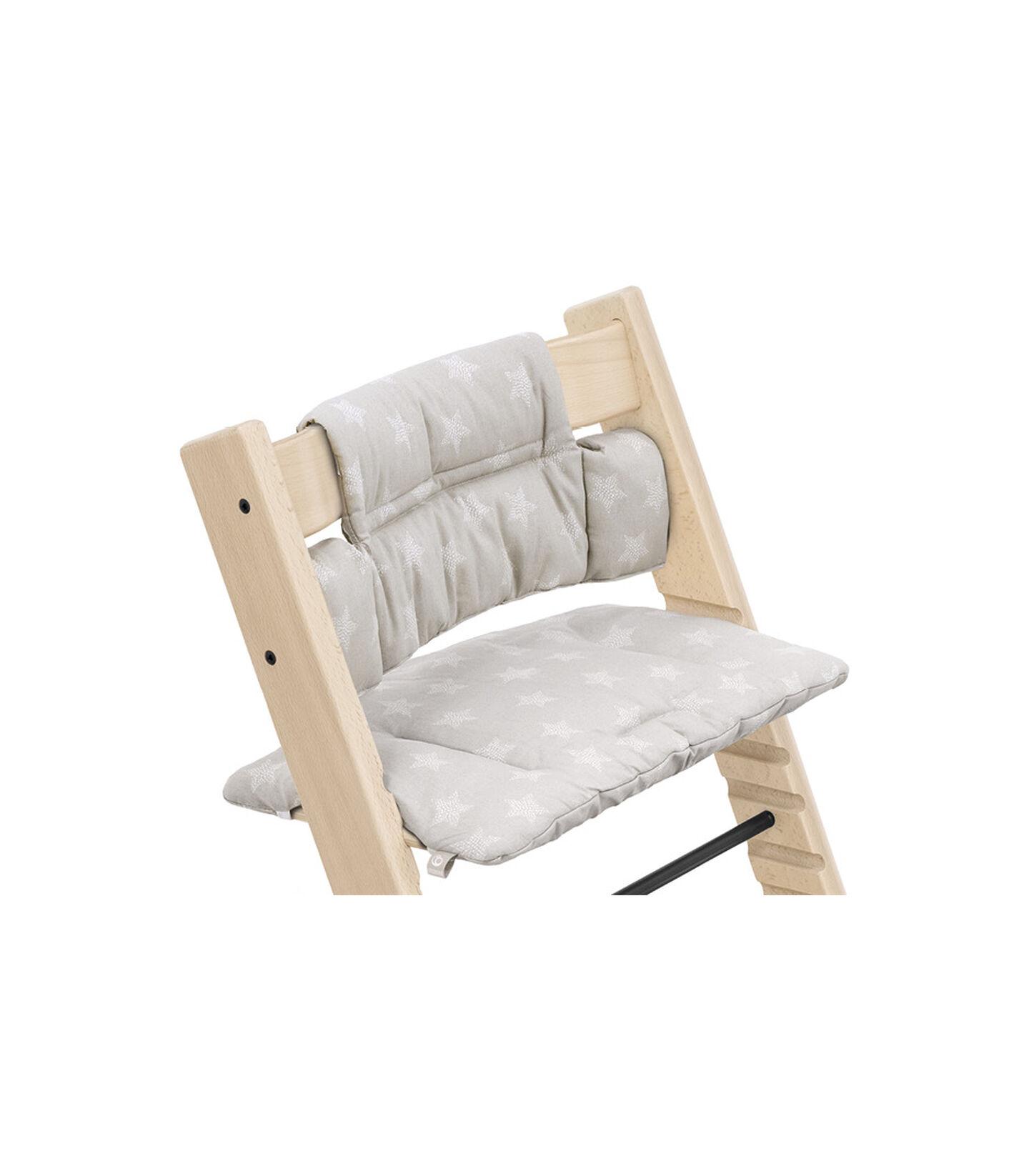 Tripp Trapp® Chair Natural with Classic Cushion Stars Silver. Detail. view 1