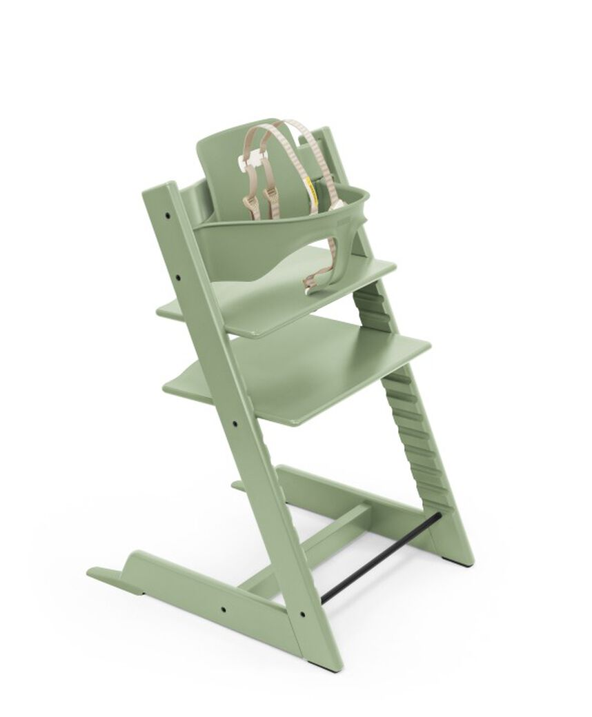 Tripp Trapp® chair Moss Green, Beech Wood, with Baby Set. US version. view 29