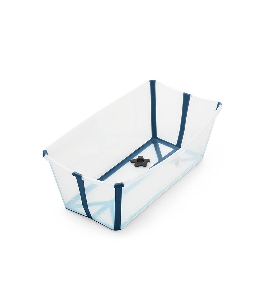 Stokke® Flexi Bath® bath tub, Transparent Blue. Open.