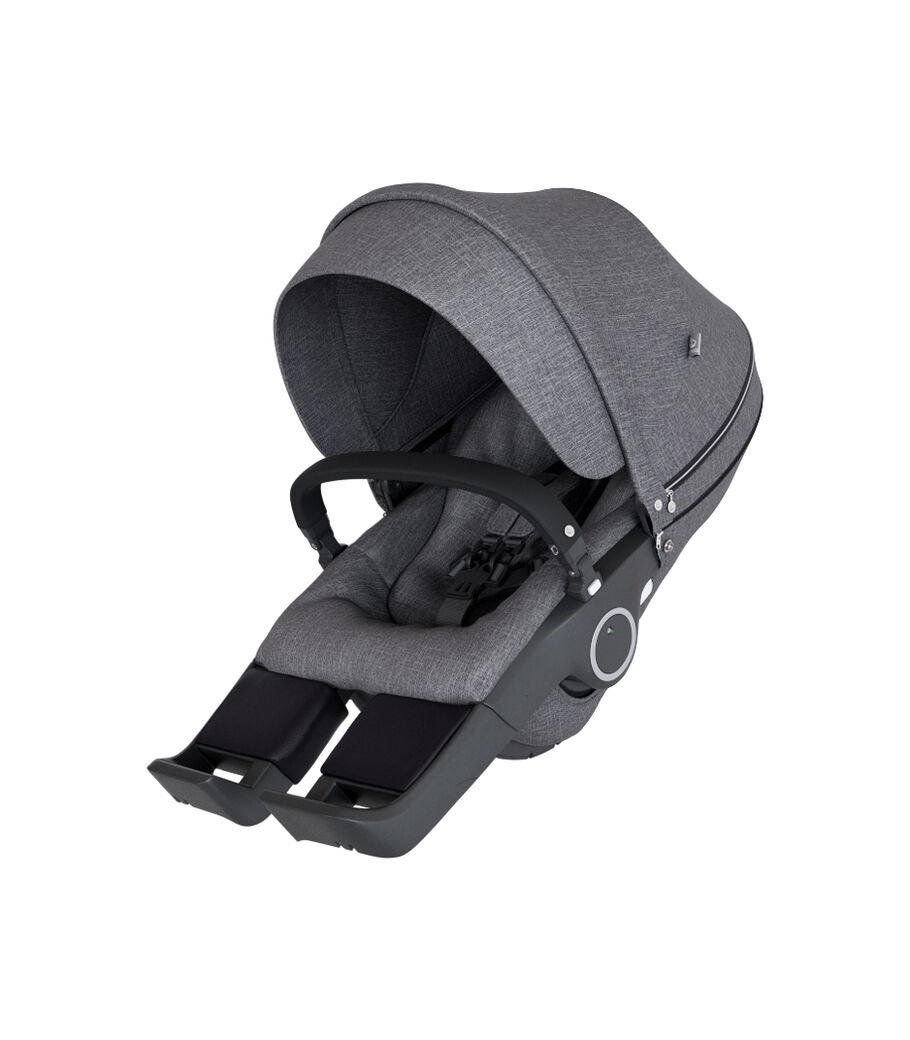 Stokke® Stroller Seat, Black Melange, mainview