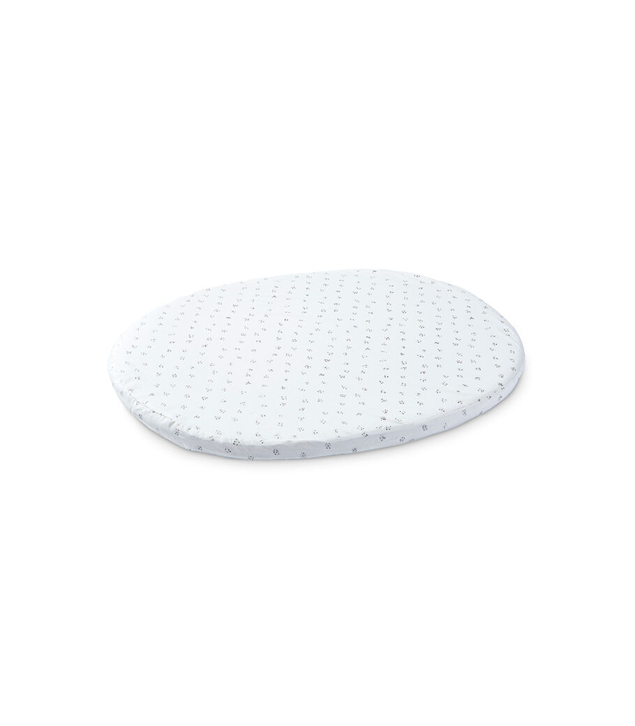 Stokke® Sleepi™ Mini Fitted Sheet by Pehr, Grey Dotty, mainview