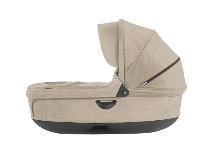 Stokke® Stroller Carry Cot, Beige Melange. For Stokke Crusi™ and Trailz™