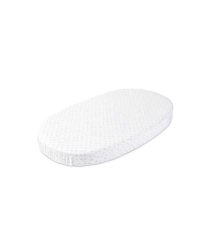 Stokke® Sleepi™ Fitted Sheet by Pehr, Grey Dotty, mainview view 1