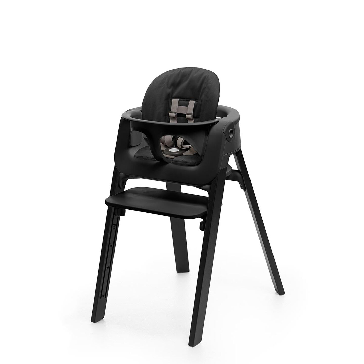 Oak Black Chair, Black Baby Set view 2