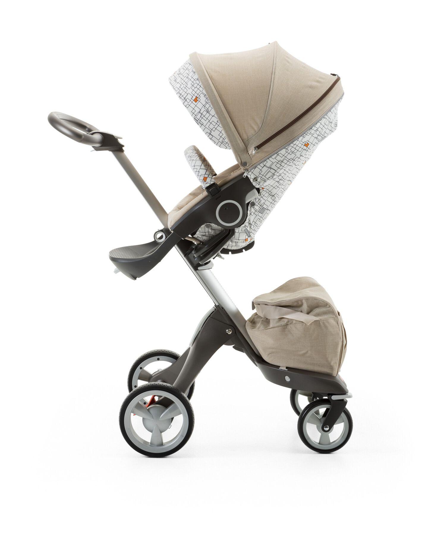 Stokke® Stroller Seat Style Kit Grid with Stokke® Xplory® chassis, Beige Melange