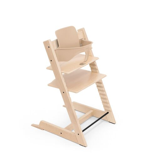 Tripp Trapp® chair Natural, with Baby Set.