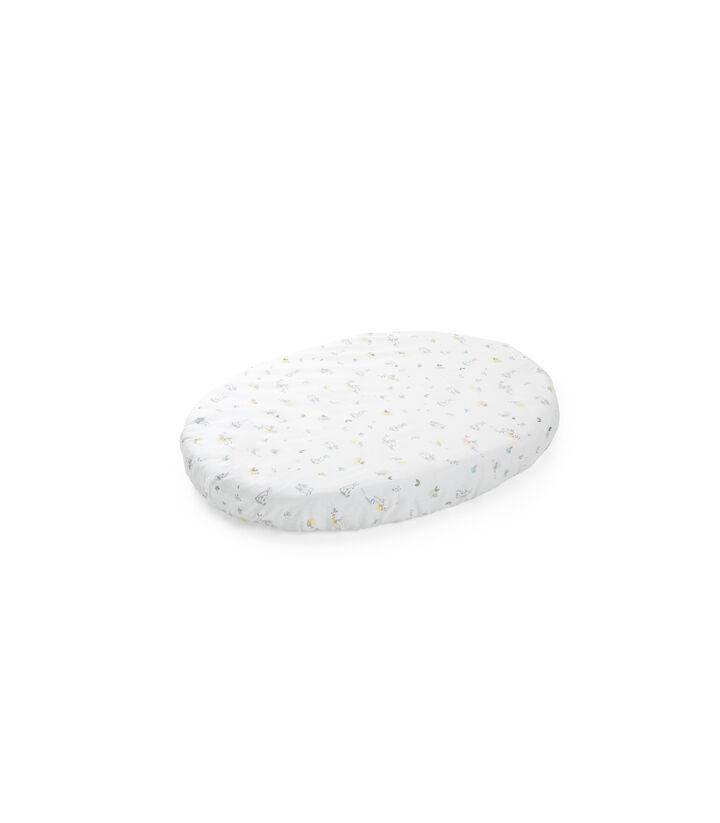 Stokke® Sleepi™ Mini Fitted Sheet. Soft Rabbit. Bottom side.