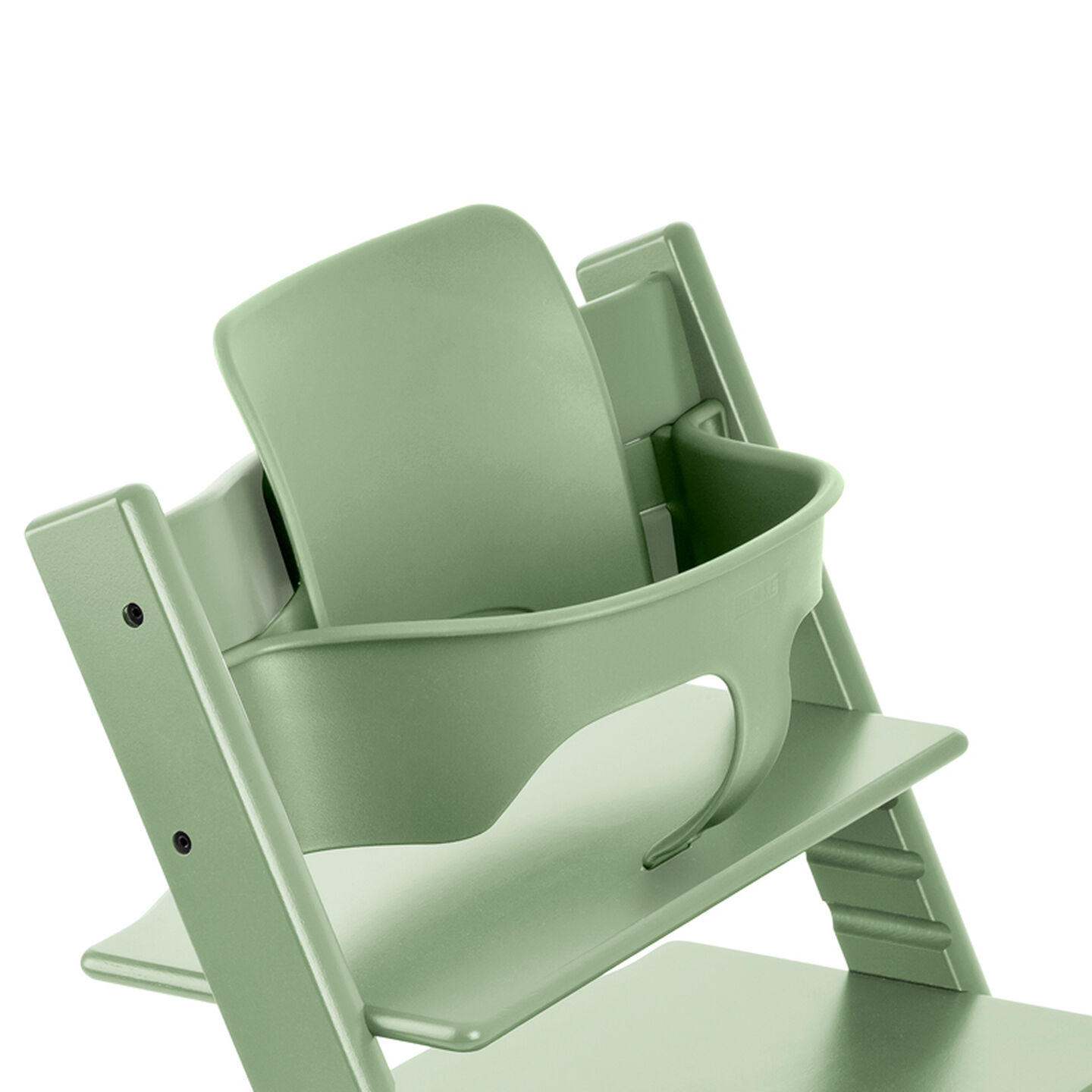 Tripp Trapp®, Moss Green, with Baby Set Moss Green. Detail.