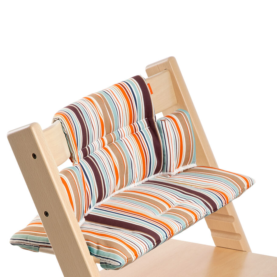 Tripp Trapp® Natural with Signature Stripe cushion