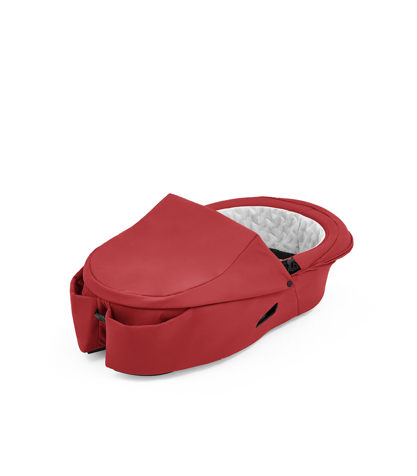 Stokke® Xplory® X Ruby Red Carry Cot, no canopy. view 1