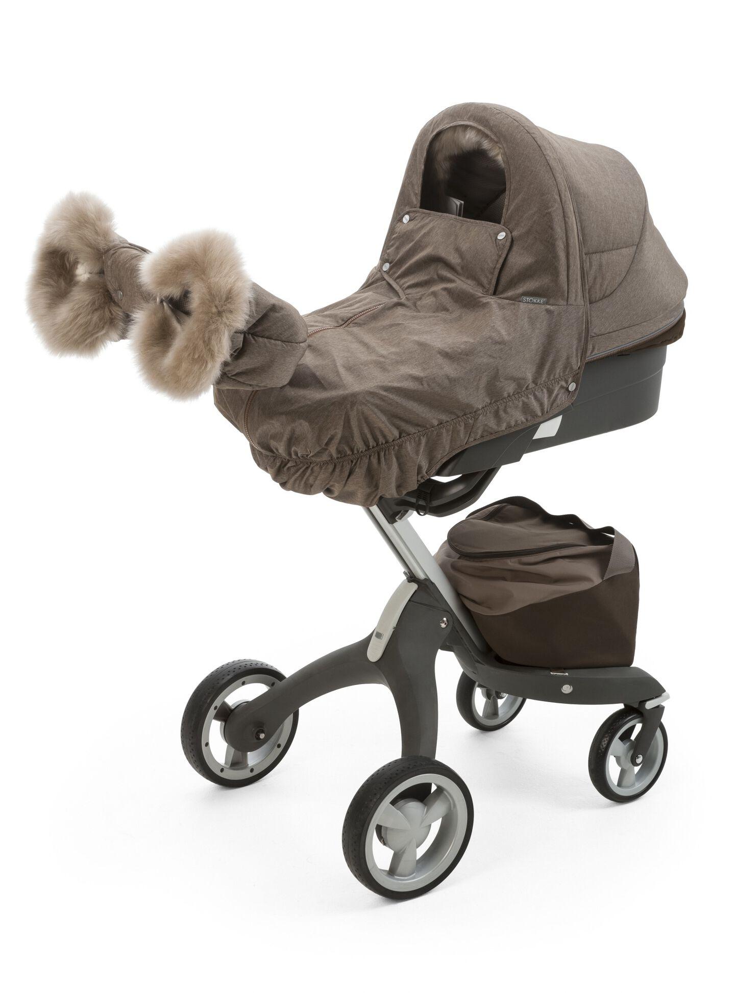 Stokke® Xplory® Carry Cot with Winter Kit, Nougat Melange.