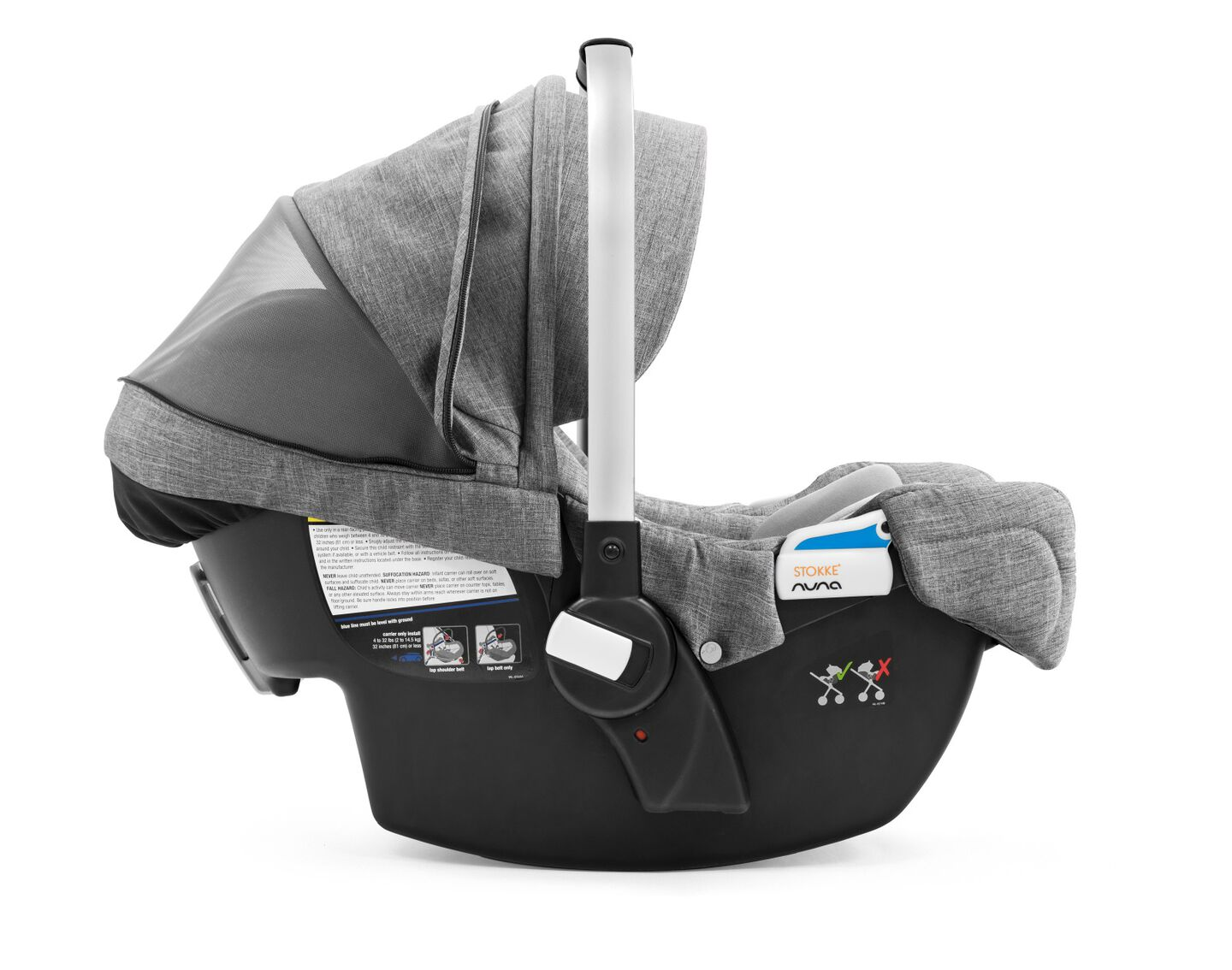 Stokke® PIPA™ By Nuna®, Black Melange. US.