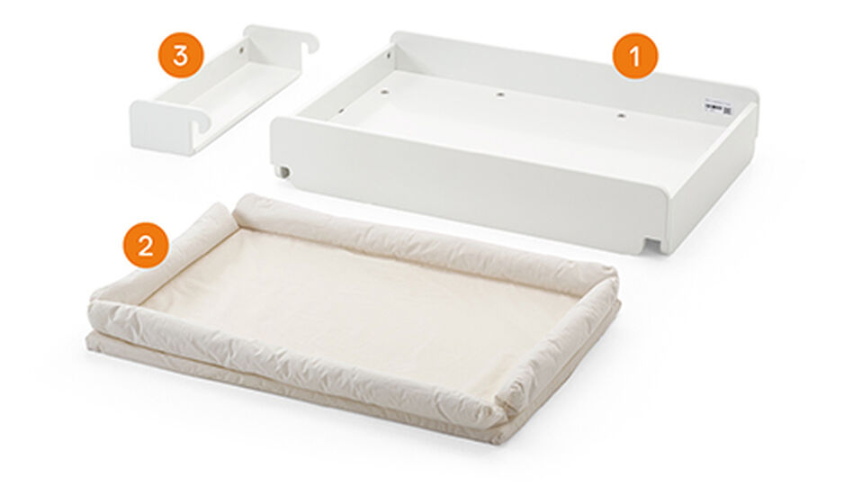 Stokke® Home™ Changer met matras white, , WhatsIncl view 1
