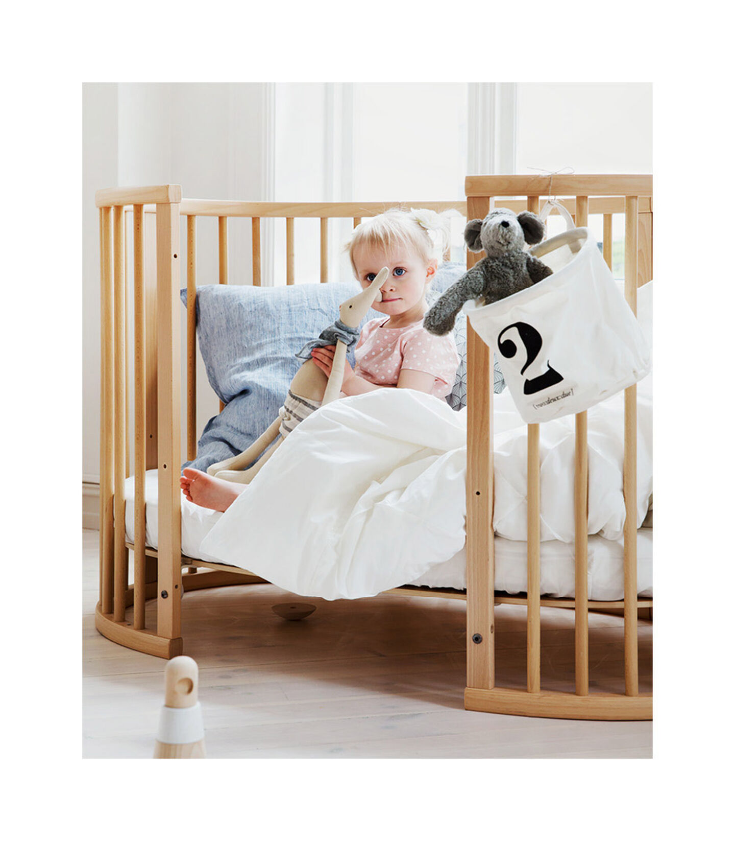 Stokke® Sleepi™ Bed Extension Naturell, Naturel, mainview view 2