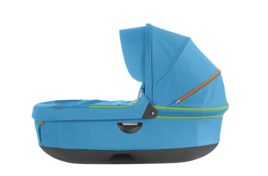 Stokke® Stroller Carry Cot, Urban Blue. For Stokke Crusi™ and Trailz™