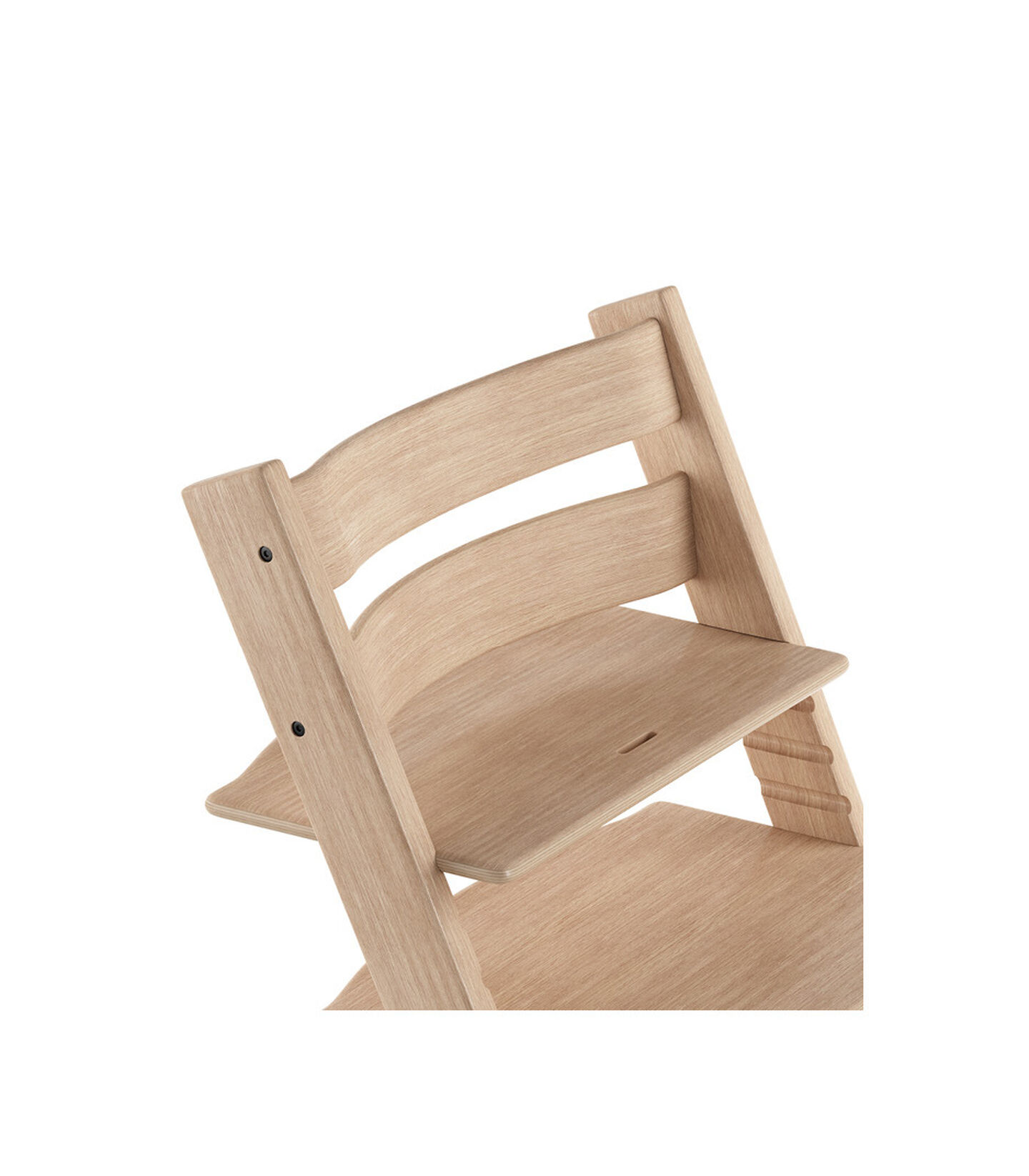 Tripp Trapp® Chair close up 3D rendering Oak Natural