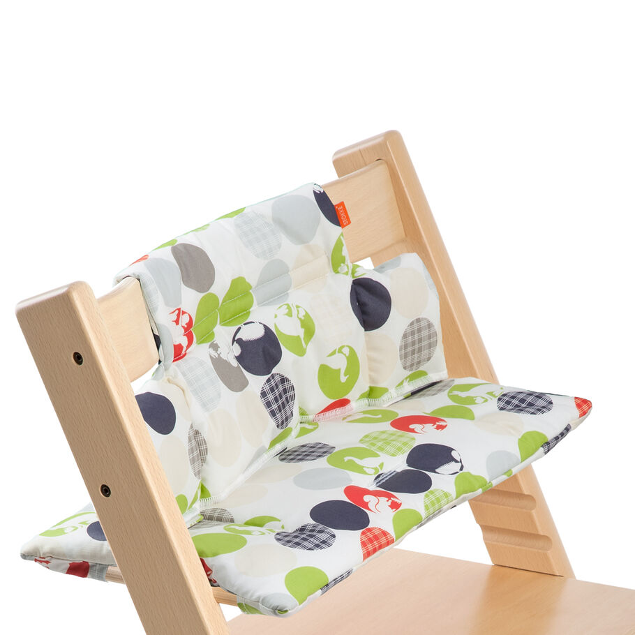 Tripp Trapp® Natural with Silhouette Green cushion