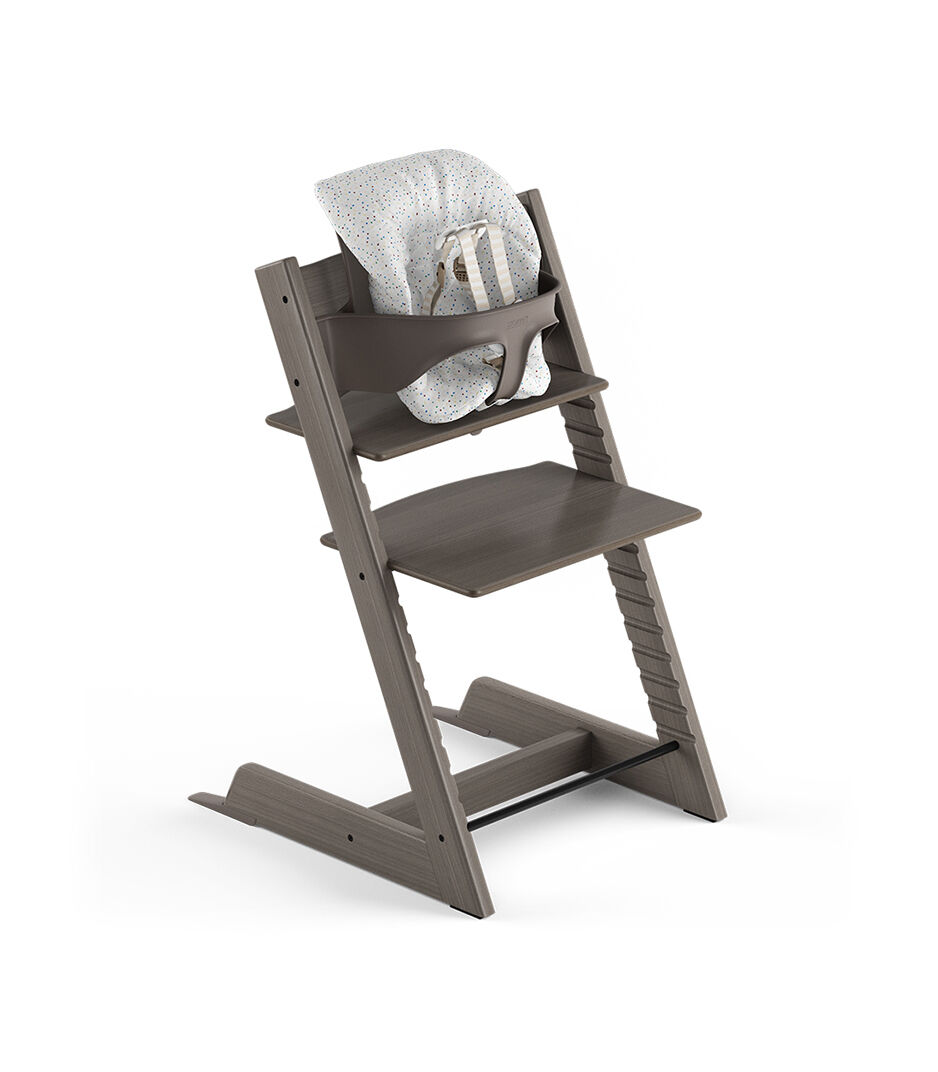 Marvelous Tripp Trapp® Hazy Grey, Beech. With Tripp Trapp® Baby Set And Baby