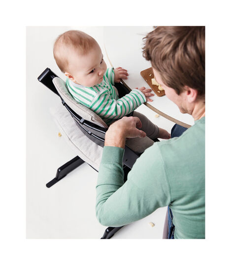Tripp Trapp® Black, Beech wood. With Tripp Trapp® Baby Set. view 2