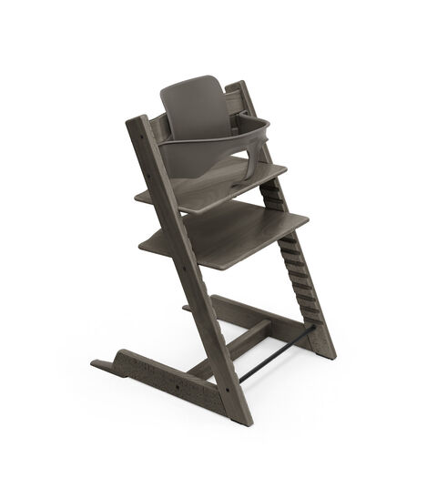 Tripp Trapp® chair Hazy Grey, with Baby Set. view 10