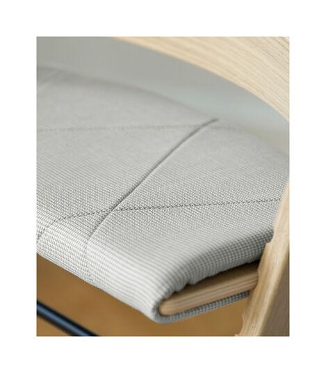Tripp Trapp® Junior Cushion Nordic Grey on Oak Natural Chair. view 4