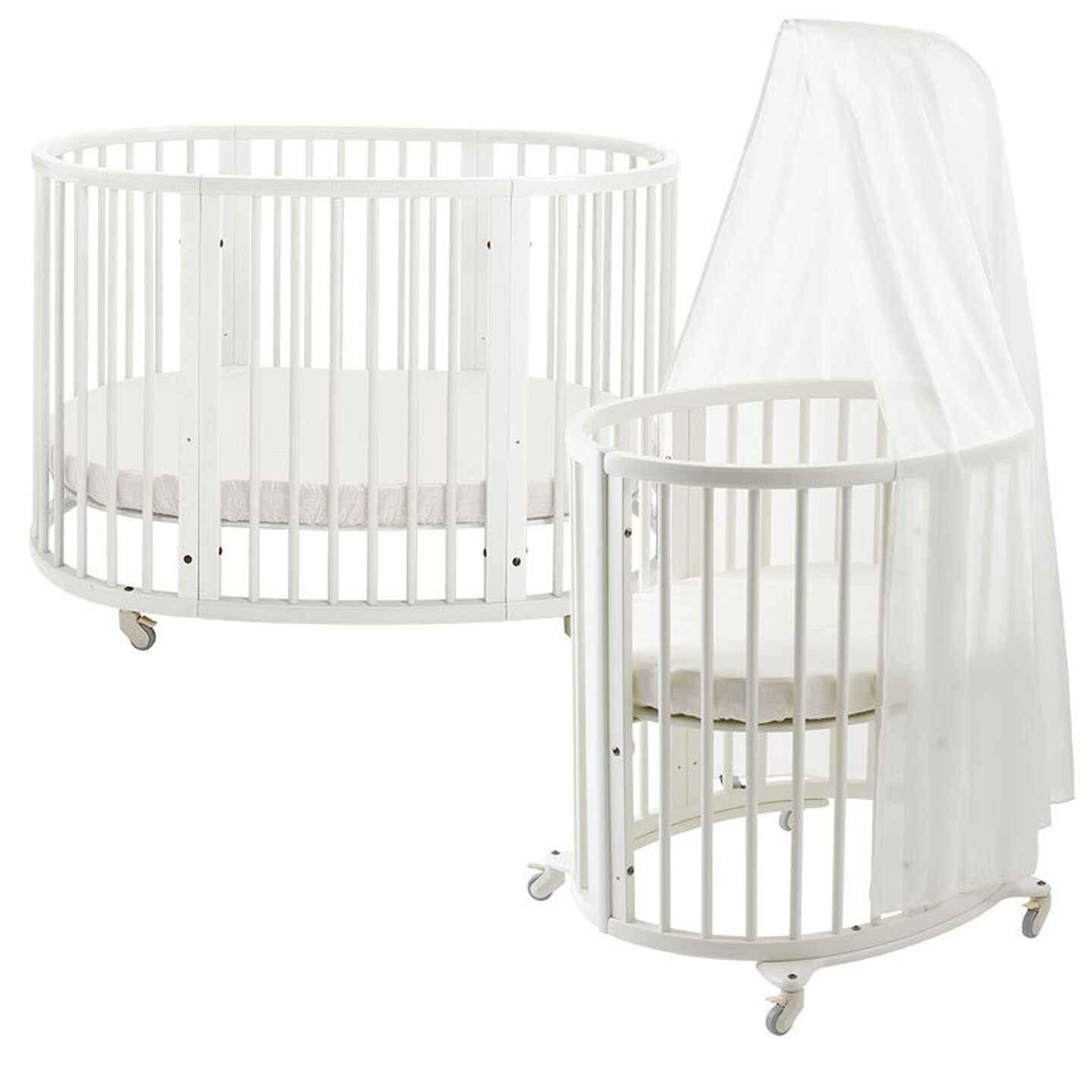 1038 Sleepi Bed + Mini JP White