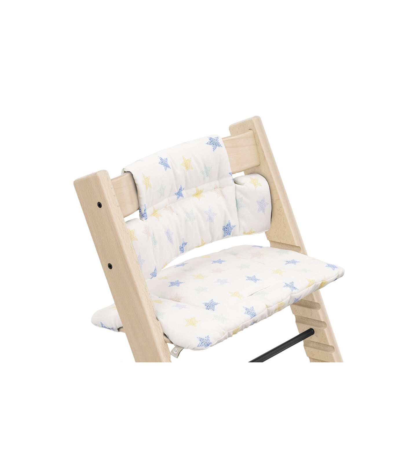 Tripp Trapp® Chair Natural with Classic Cushion Stars Multi. Detail. view 2