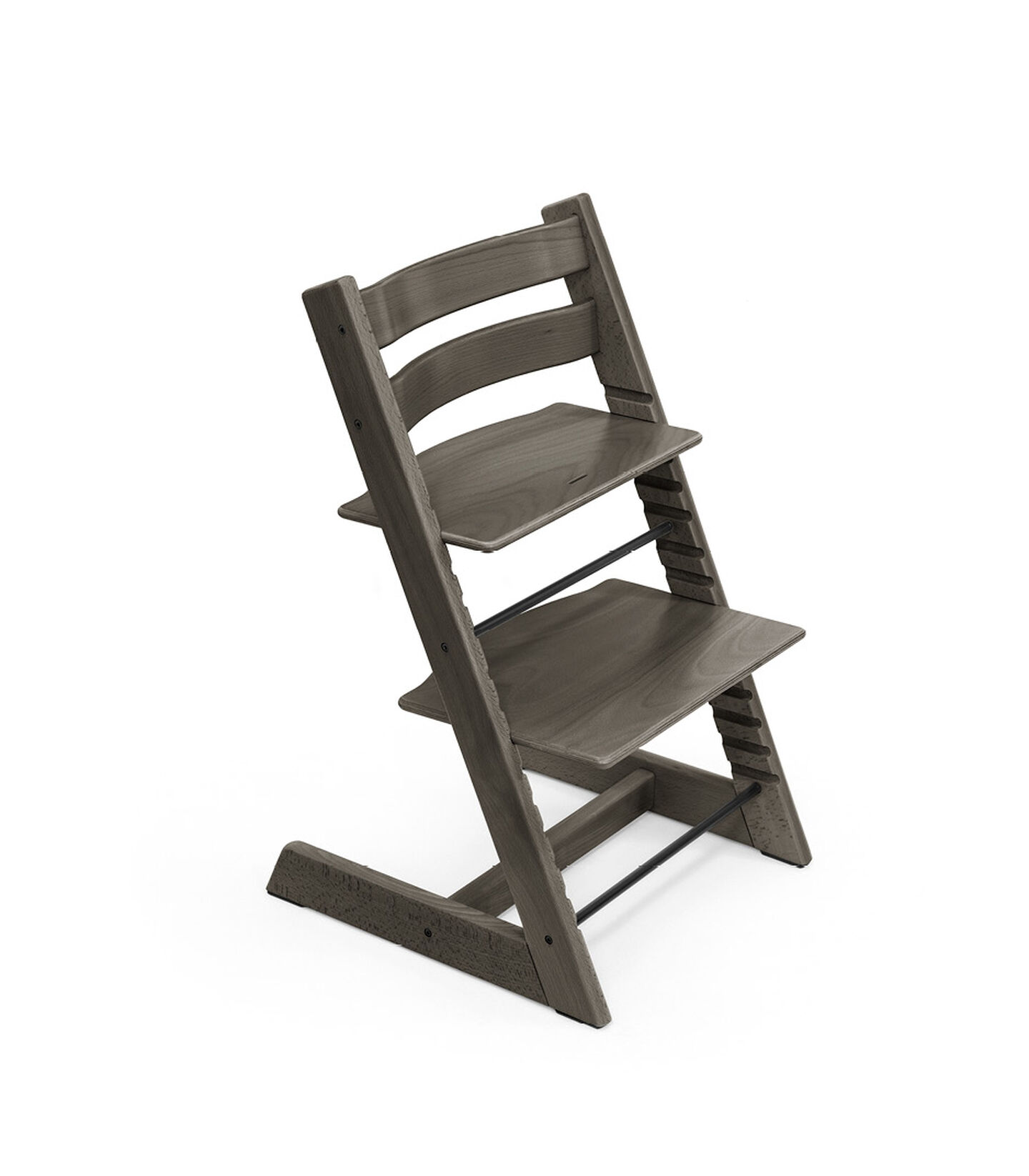 Tripp Trapp® chair Hazy Grey, Beech Wood. view 2